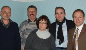 v.l.: Kehl - HBH Kliniken; Holl - Alcan Singen; Bellmann - HBH Kliniken; Ulbrich - IGM; Storz - SPD