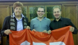 Jutta Gold (Zweitkandidatin), Marius Osswald (SPD Gottmadingen) und Hans-Peter Storz
