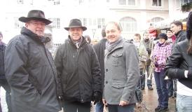 Wolfgang Pietzek, Bürgermeister Johannes Moser und Hans-Peter Storz (v.l.n.r.)
